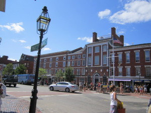 A preservation-minded HDC fought bitterly to force the restoration of the Foye Building in downtown Portsmouth when its near-collapse  almost dragged down the Athenaeum. Today, the restored building and a low skyline add to the magnetic charm of Market Square