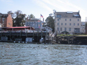 The former Carter's Antiques building at 173-5 Market St occupies a sensitive spot on the waterfront at one end of Ceres Street, near the Moffatt-Ladd House