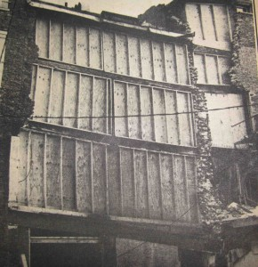 As an HDC-member, Dorothy Vaughan fought to have to Foye Building (shown here in back) restored with as much old brick as possible when its near-collapse in Market Square almost brought down the Athenaeum