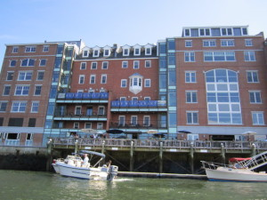 The structure on the right replaced the Portsmouth waterfront's second-oldest after the HDC let it be torn down amid controversy over its condition during building projects on either side