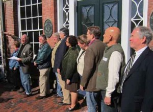 Portsmouth Now! spokesperson and former Portsmouth Deputy City Manager Ted Jankowski told the story of the HDC battle to restore the Foye Building as he announced the nonpartisan organization's endorsement of nine candidates for Portsmouth City Council