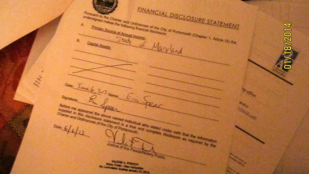As shown here, the city's current financial disclosure forms require very little financial information