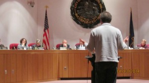 Harborcorp lawyer John Springer strenuously objected to changes in design review