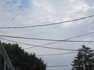 Residents complain that helicopters ferryiing tourists over clear-cut streets are too loud. Many want action
